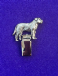 Dog Show Breed Ring Number Clip - Bullmastiff - FULL BODY Silver or Gold Style